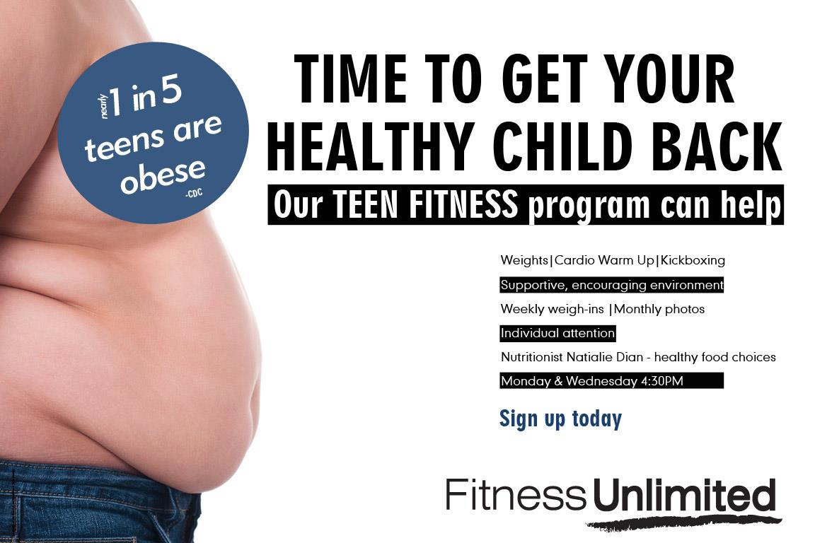 Our Teen Fitness program can help. Cardio Warm-up, weight training, ...